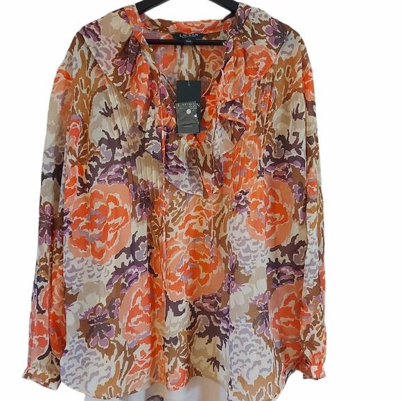 Lauren Ralph Lauren floral peasant blouse